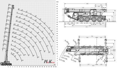 Кран либхер 70 тонн технические характеристики
