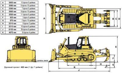 Бульдозер комацу д 155 технические характеристики