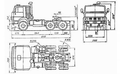 Камаз 5410 технические характеристики грузоподъемность