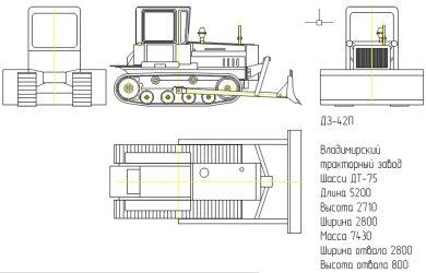 Бульдозер дз 42 технические характеристики