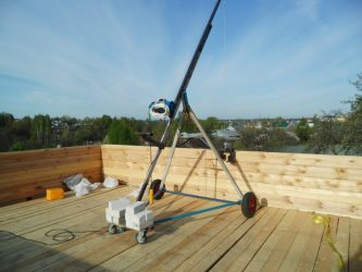 Кран для строительства дома своими руками