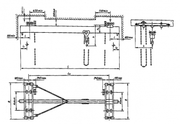 Кран подвесной электрический однобалочный 5т нагрузки