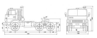 Камаз 54105 технические характеристики