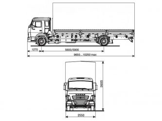 Камаз 5308 технические характеристики грузоподъемность