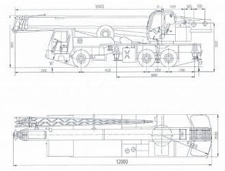 Автокран qy25k технические характеристики