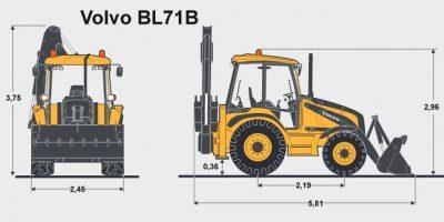 Экскаватор погрузчик вольво bl71 технические характеристики