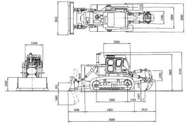 Бульдозер komatsu d355 технические характеристики